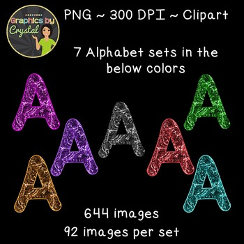 Alphabet Clipart - Liquid Metal