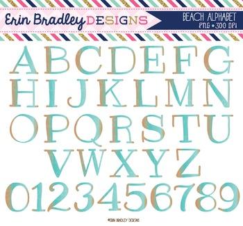 Alphabet Clipart - Beach