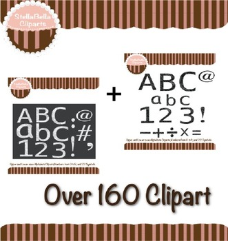 Alphabet Clipart Bundle - Scribble Style in Black and White