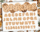 Alphabet Clipart - Christmas / Chocolate Chip Cookie ABC /