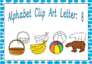 Alphabet Clipart Letter B Phonics Clip Art Commercial Use Fine