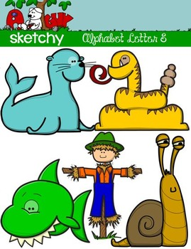 """Alphabet Clipart Letter """"S"""" Graphic - Clip art"""