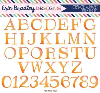 Alphabet Clipart - Orange