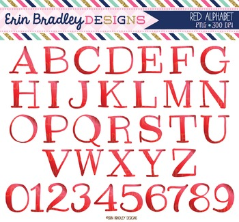 Alphabet Clipart - Red