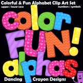 Colorful Fun Alphabet Letters Clipart