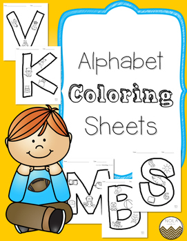 Alphabet Color Sheets- No Prep!