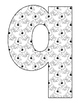 Alphabet Coloring Pages for the Letter Q ~ 7 Beginning Sou