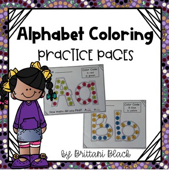Alphabet Coloring Practice Pages