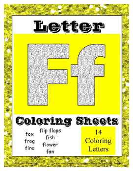 Alphabet Coloring Sheets Beginning Sound Pictures for lett