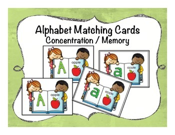 Alphabet Matching Concentration/Memory Game