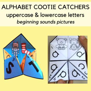 Color Alphabet Cootie Catchers / Fortune Tellers: Letters
