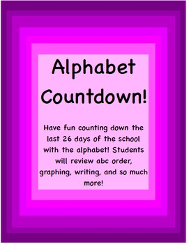 Alphabet Countdown to Summer Packet