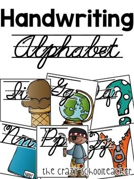 Alphabet . Cursive Handwriting