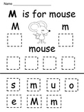 Kindergarten / First Grade  Alphabet Cut and Paste