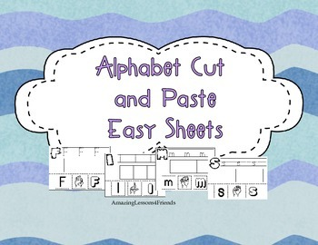 Alphabet Cut and Paste Easy Sheets