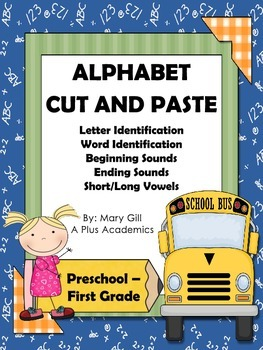 Freebie - Alphabet Cut and Paste - Preschool - First Grade