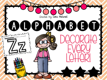 Alphabet Decorate Every Letter