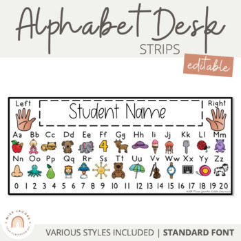 Alphabet Desk Strips (Editable)