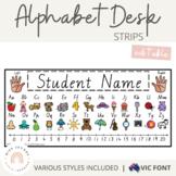 Victorian Modern Cursive Alphabet Desk Strips