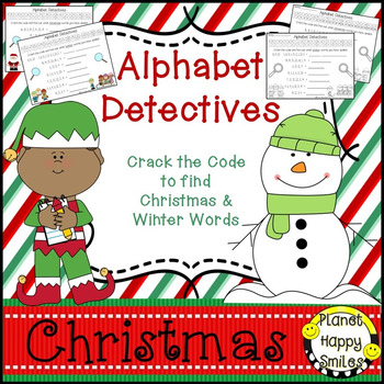 Christmas Activity ~ Christmas and Winter Alphabet Detecti