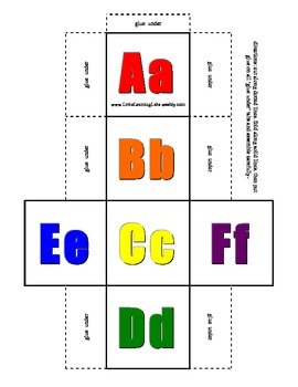 Alphabet Dice Set upper and lower case in color & black &