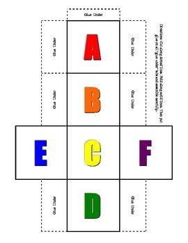 Alphabet Dice Set upper case in color & black & white prim
