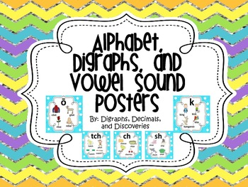 Alphabet, Digraphs, and Vowel Sound Posters