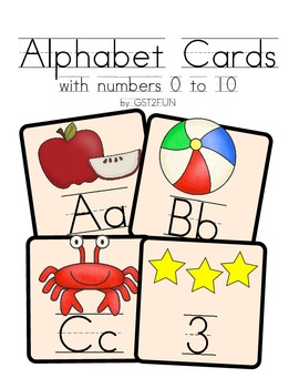 Alphabet Display Cards - Traditional Print