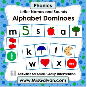 Alphabet Dominoes Phonics ABC Learn Letters and Sounds