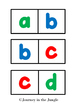 Alphabet Dominoes (lowercase)