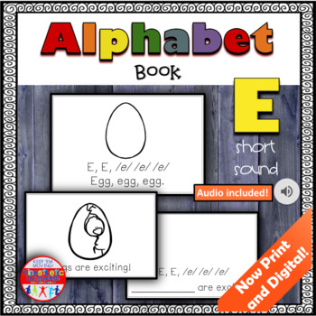 Alphabet Books - Letter Sounds Emergent Reader - E (short)