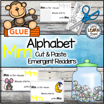 Letter M Alphabet Emergent Reader and Cut and Paste Activi