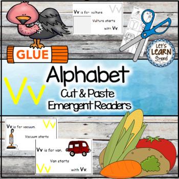 Letter V Alphabet Emergent Reader and Cut and Paste Activi
