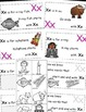Letter X Alphabet Emergent Reader and Cut and Paste Activi