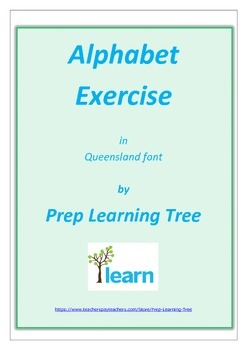 Queensland Alphabet Exercise Book or Posters