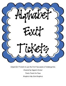 Alphabet Exit Tickets A-Z