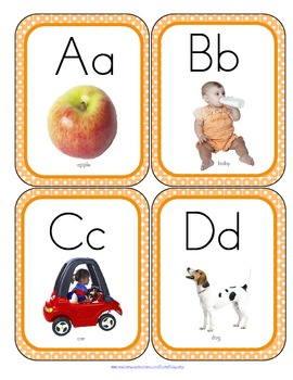 Alphabet Flash Cards - Photos