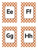 Alphabet Flash Cards   (Red Check Dots) (4 per page)