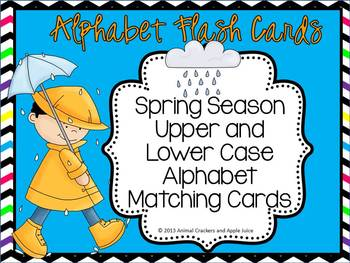 Alphabet Flash Cards Spring Set