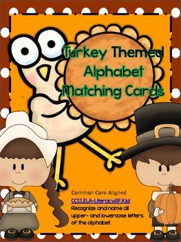 Alphabet Flash Cards: Thanksgiving Set