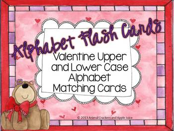 Alphabet Flash Cards Valentine Set