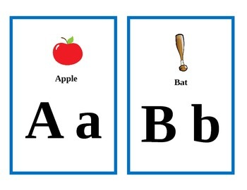 Alphabet Flash Cards with words. Good for word wall too!