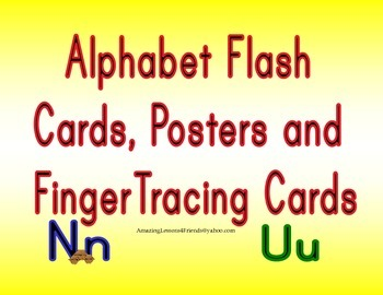 Alphabet Flash cards, Posters and Finger Tracing Cards