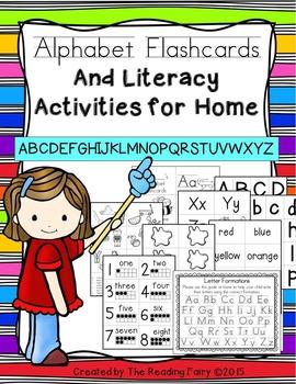 Alphabet Flashcard and Literacy Acitivites for Home
