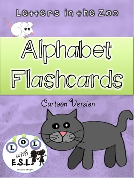 Alphabet Flashcards Letters in the Zoo