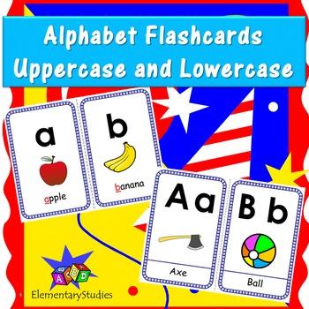Alphabet Flashcards Uppercase and Lowercase