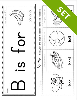 Alphabet Flipbook Activity Set PRINTABLE {BW}
