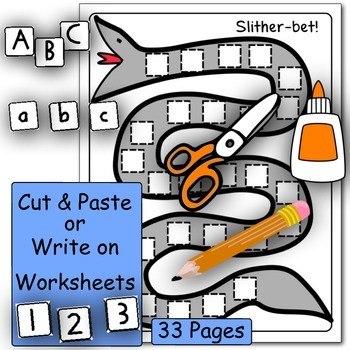 Alphabet and Number Fluency - FUN Cut & Paste Activities!