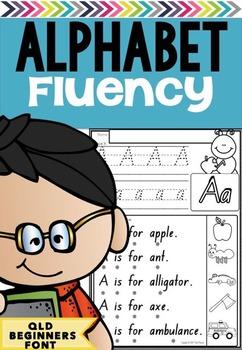Alphabet Fluency in Queensland Beginners Font