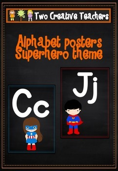 Alphabet Frieze Posters - Superhero Theme